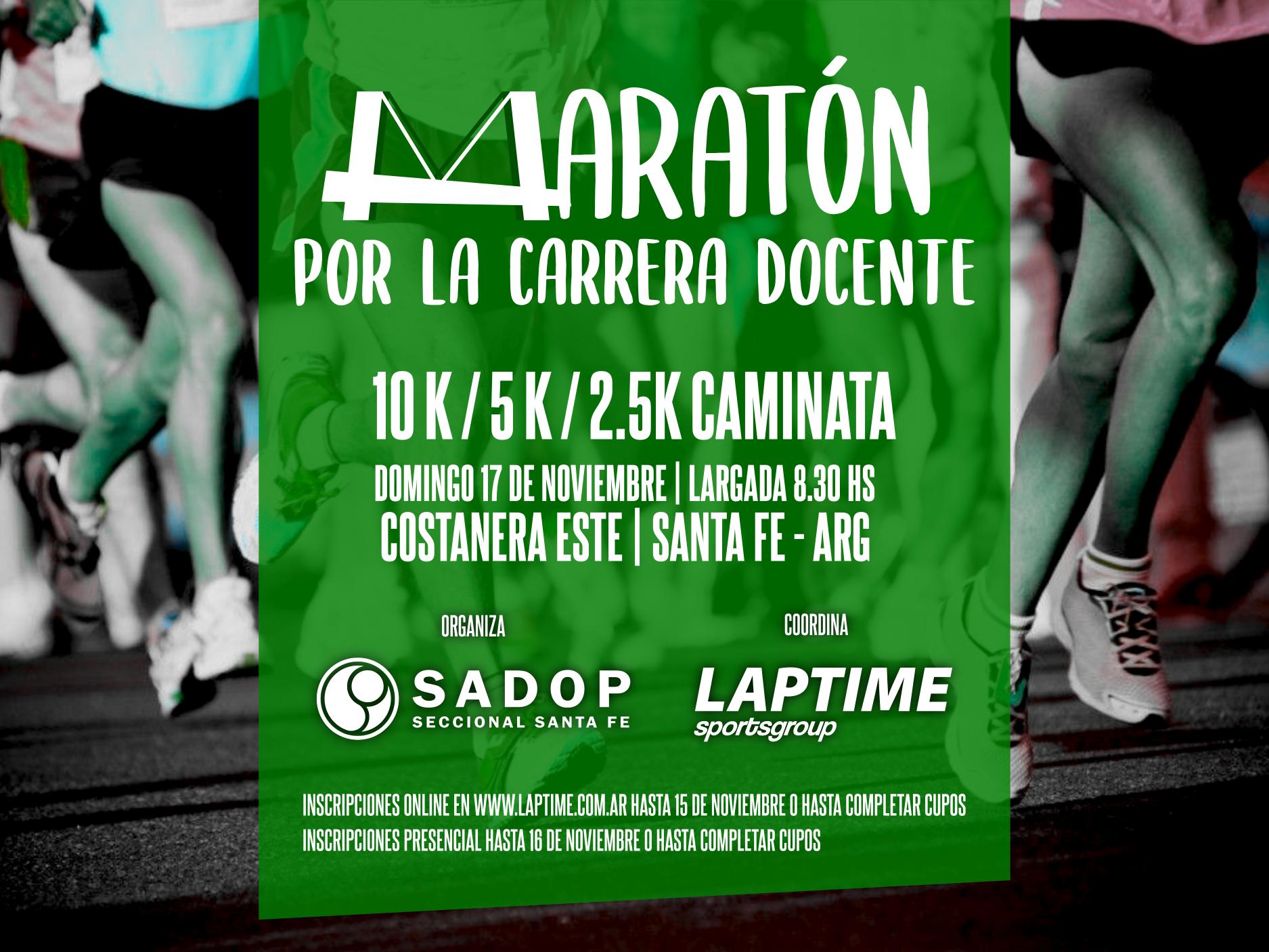 Maraton Por La Carrera Docente - SADOP Santa Fe